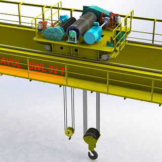 Double Girder Crane Open Winch Trolley To Do As The Lifting Mechanism of The Heavy Duty Double Girder Cranes