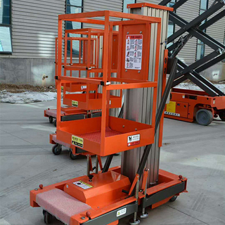10m Hydraulic Single Mast Aluminum Alloy Man Lift